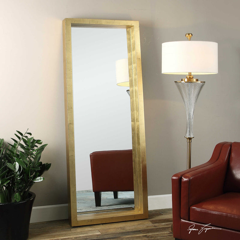 OVER-SIZED GOLD MIRROR 28X76 - Donna's Home Furnishings in Houston