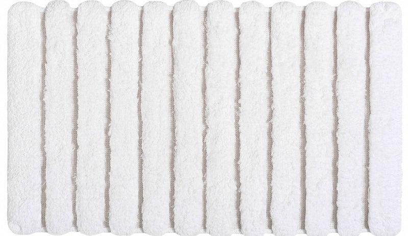 PETRA BATH RUG 20X31 WHITE - Donna's Home Furnishings in Houston