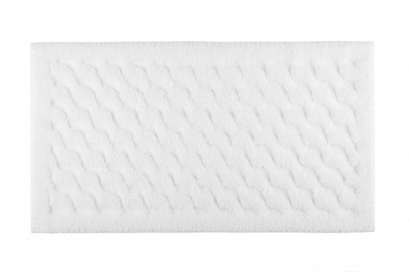 WAVE BATH RUG 20X31 WHITE