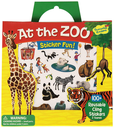 At the Zoo Stickers Set in Handy Bag - Little Marshans