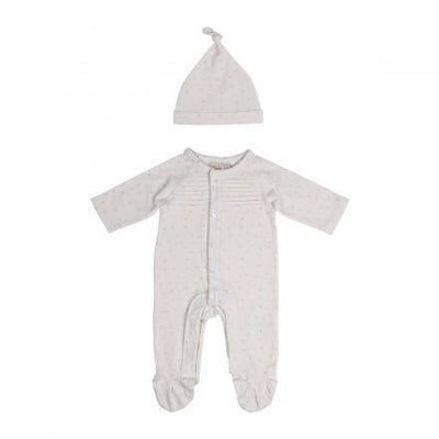 Little Marshans:Unisex Multi Star Play suit & Hat: