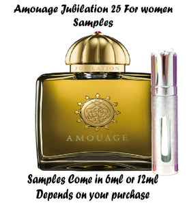 Amouage Jubilation 25 samples