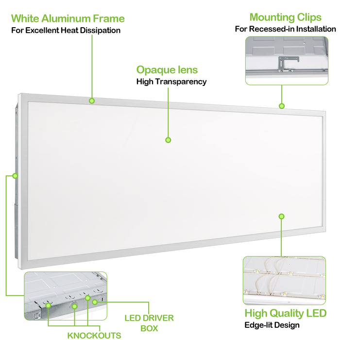 4 IN. LED Slim Panel Light with Junction Box, Baffle Type, 10W 650lm 3000K Warm White, CRI90 - 4 Pack