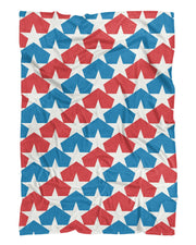 USA Flag Stars Fluffy Blanket