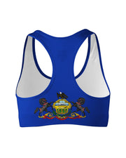 Pennsylvania Flag Sports Bra