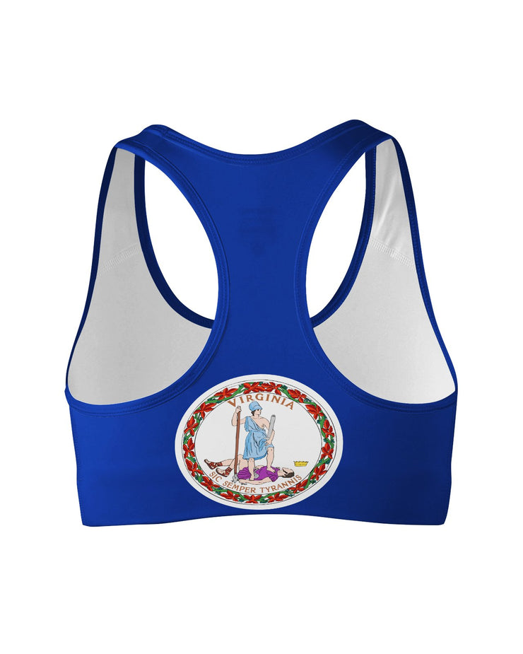 Virginia Flag Sports Bra