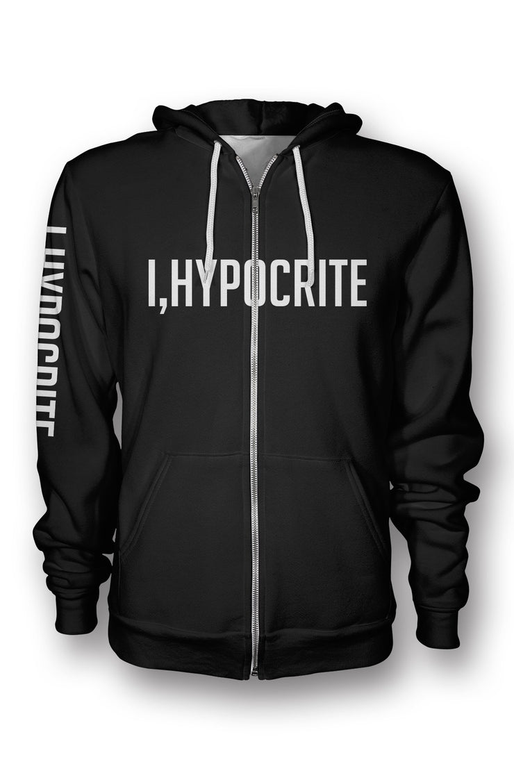 I Hypocrite Black printed all over in HD on premium fabric. Handmade in California.