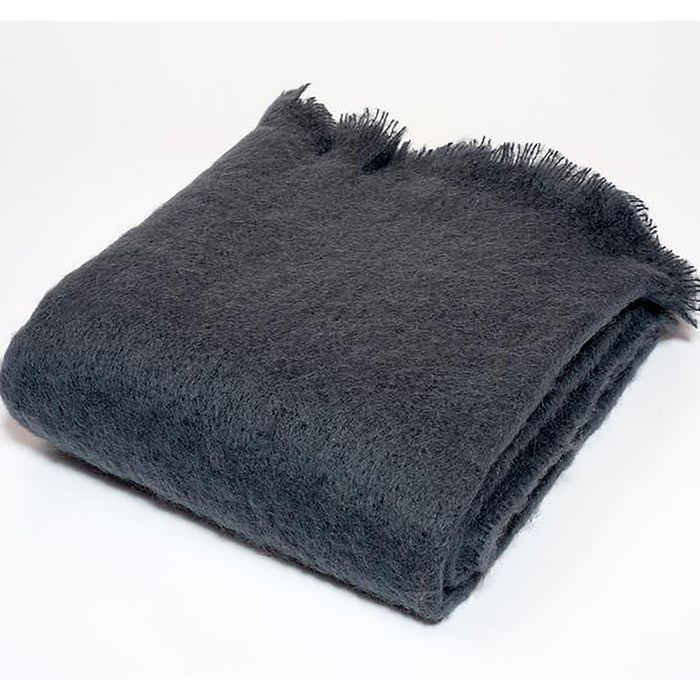 Luxe Mohair Throw Charcoal