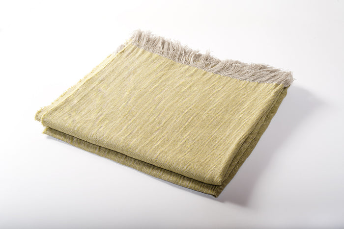 Linen Throw Citron