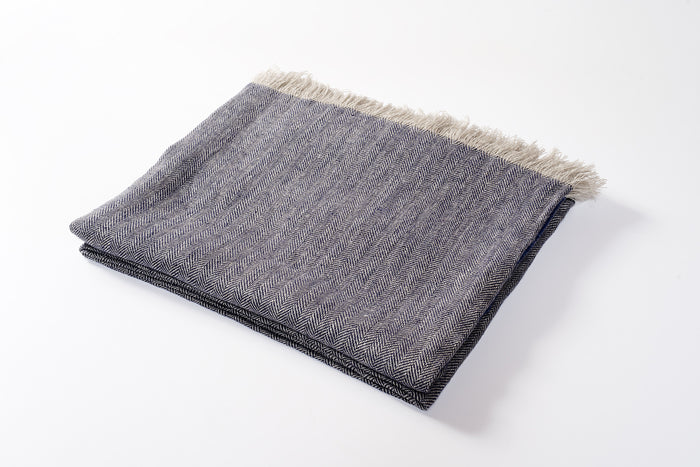 Linen Throw Denim