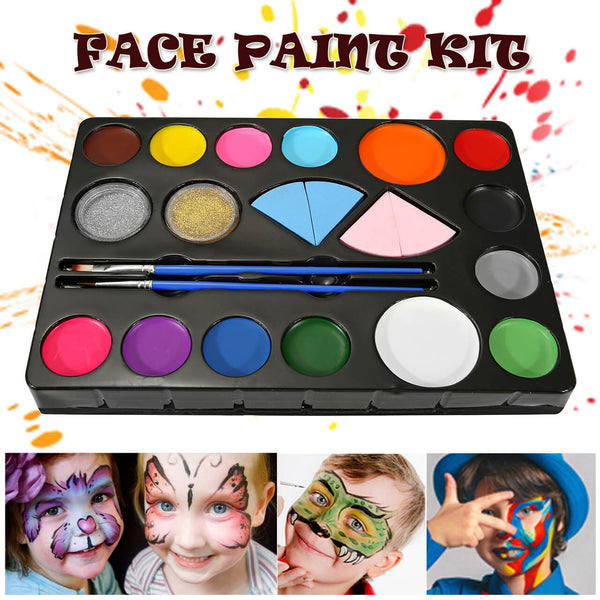 gal009901 CCbeauty 14 colors children kids dace body paint oil for halloween  costume