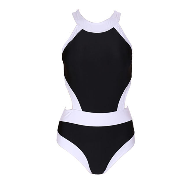 One piece Women's Sexy Patchwork High Waist Swimsuit