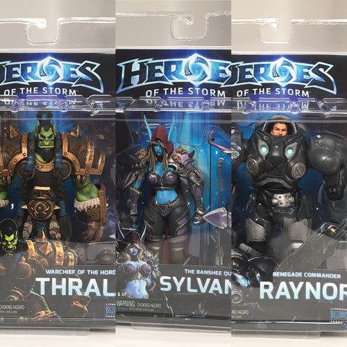 NECA - Heroes Of The Storm - COMPLETE Series 3 Set - Raynor, Sylvanas, Thrall