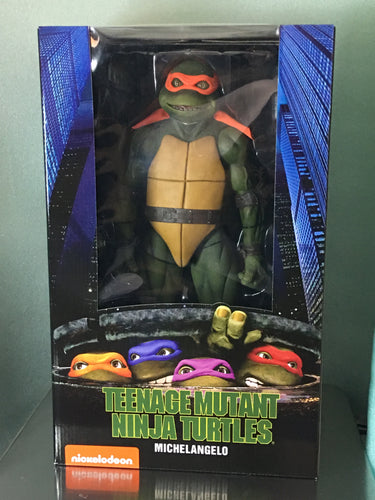 NECA - Teenage Mutant Ninja Turtles (1990 Movie) – 1/4 Scale Action Figure – MICHELANGELO