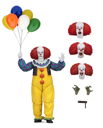 "IT – 7"" Scale Action Figure – Ultimate PENNYWISE (1990)  - NECA"