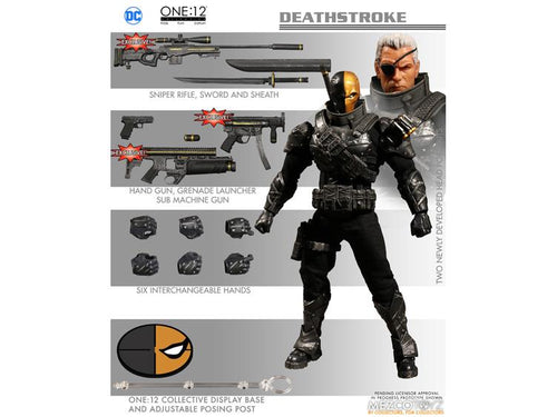STEALTH DEATHSTROKE PX- One:12 Collective Action Figure - MEZCO