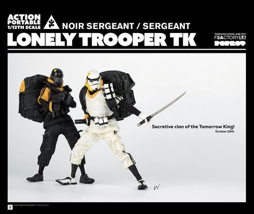 LONELY TROOPER TK (Tomorrow King) Sergeant - 2 Pack - WHITE & DARK version SET - ThreeA / ThreeZero