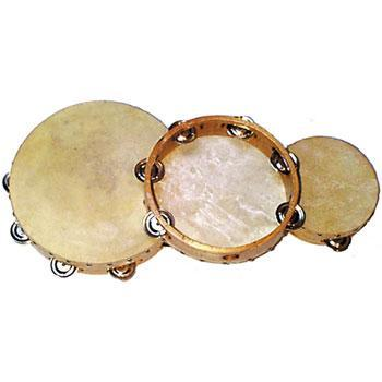 Tambourines 10-inch Tambourine, Single Row Jingles