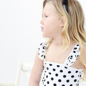 Little Hearts Co FRILL SWIM POLKA DOT LEOTARD/BATHER