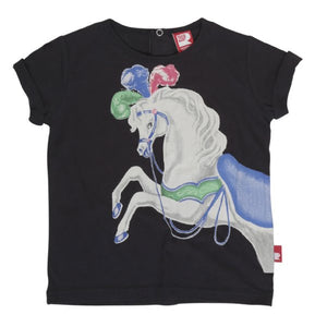 Rock Your Baby Prancing Horse Charcoal Tee VIP