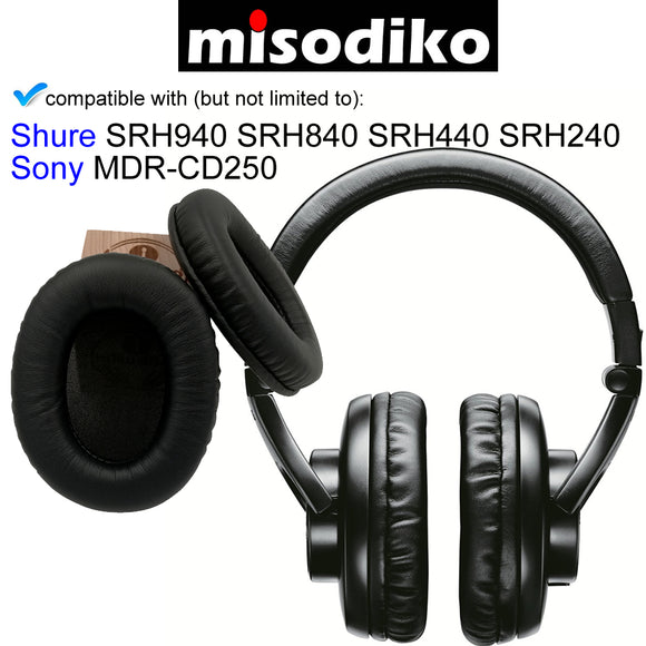 misodiko Replacement Ear Pads Cushion Kit - for Shure SRH940 SRH840 SRH440 SRH240/  Sony MDR-CD250 | Headphones Repair Parts Earpads