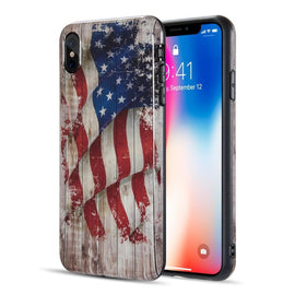Patriotic Vintage Flag Series Case for iPhone Xs Max Faded Glory