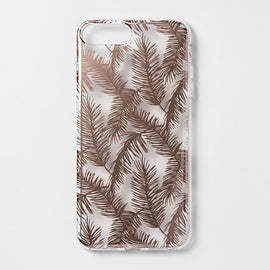 heyday  Apple iPhone 8 Plus/7 Plus/6s Plus/6 Plus Printed Feathers Case - Rose Gold