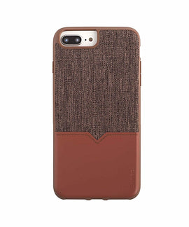 Evutec iPhone X Case Northhill with AFIX Mount - Brown