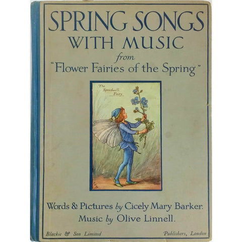 Children's Books - Spring Songs with Music illustrated by Cicely Barker