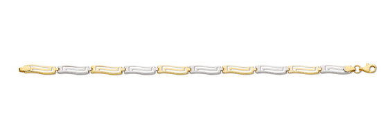 White & Yellow Gold Greek Key Bracelet TGC-BR0568