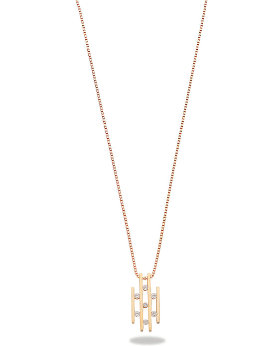 9ct Yellow Gold 0.23ct Diamond Drop Pendant with 18in/45cm Chain TGC-DCN0018
