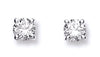 18ct White Gold 0.50ct Claw Set Diamond Stud Earrings TGC-DER0115