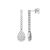 18ct White Gold 2.43ct Fancy Pear Shaped Pave Drop Earrings TGC-DER0240