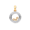 9ct Yellow Gold 0.12ct Floating Diamond Pendant  TGC-DPD0447