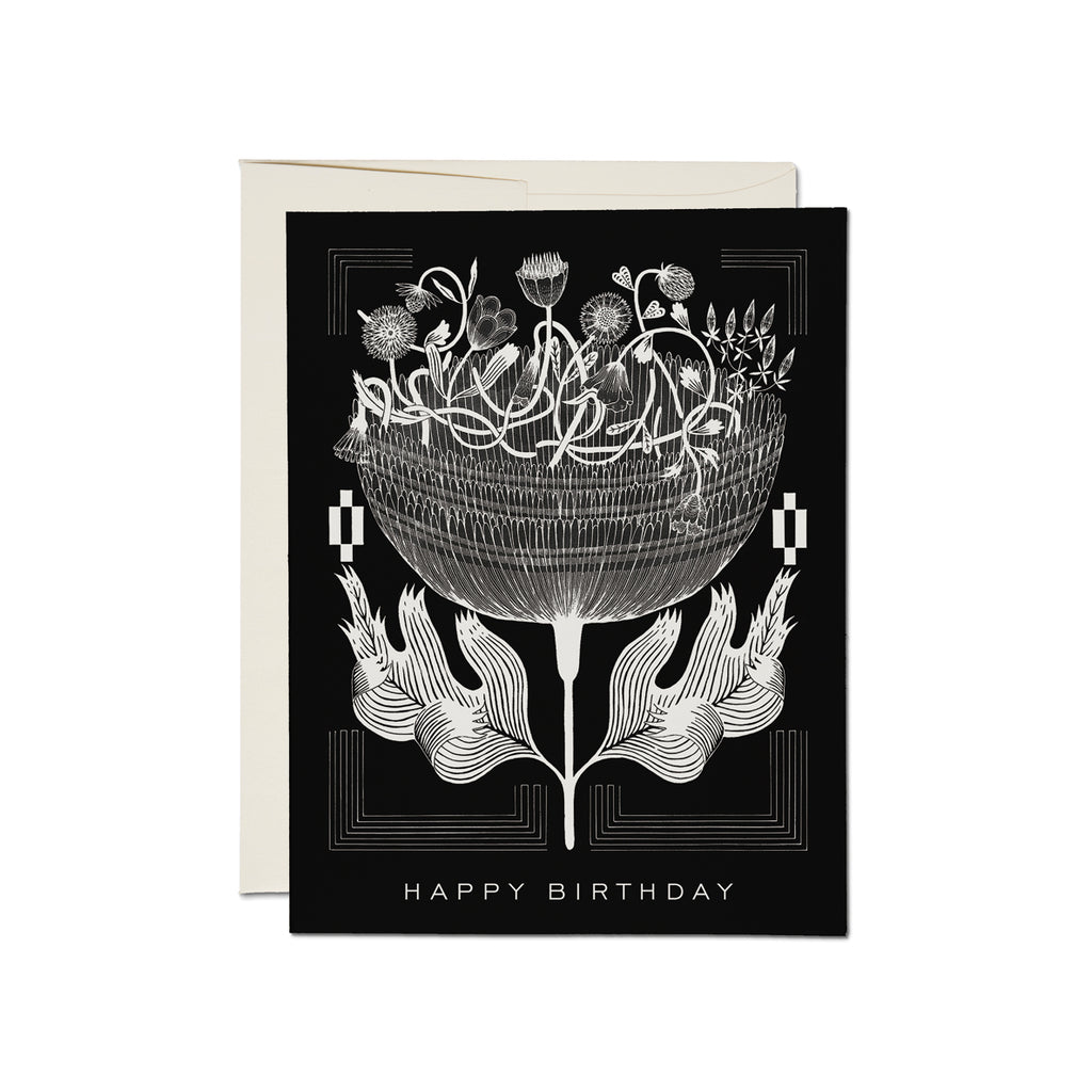 Black and White - Happy Birthday Card
