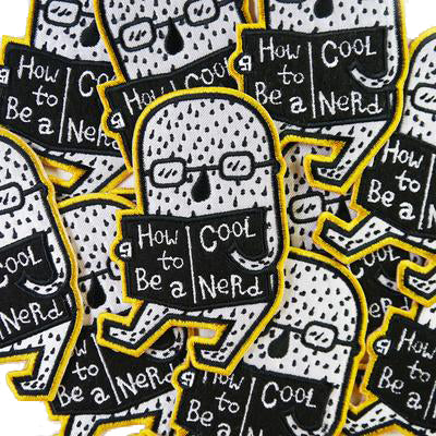 How to Be a Cool Nerd Iron-On Patch