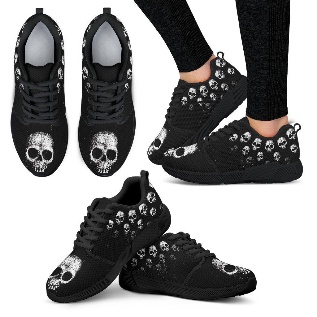 Hand drawn skull Athletic Sneakers - Skull Obsession
