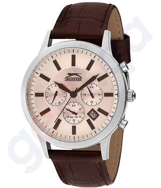 Slazenger Casual Watch For Men Analog Leather Online in Doha Qatar