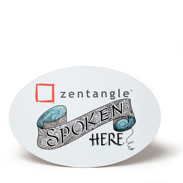 Zentangle Spoken Here Magnet