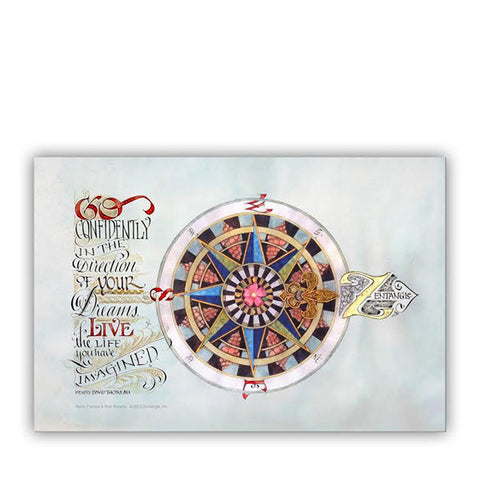 Compass Rose Postcard