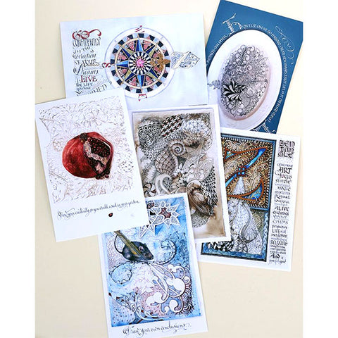 Zentangle Postcard 6 Pack