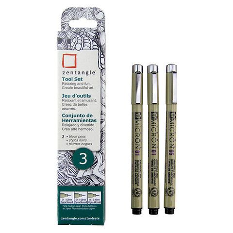 Zentangle Pen Set - Micron Pen - 3