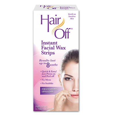 Hair Off Facial Wax Strips