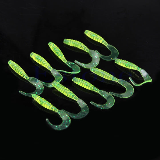 Earthworm Tail Shaped Soft Lures (10 Pieces) BSS-S05