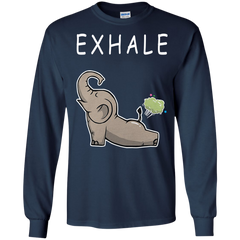Elephant T-shirts Exhale Hoodies Gifts For Animal Lovers
