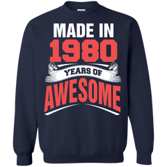 1980 Shirts Made in 1980 Year of Awesome T-shirts Hoodies Sweatshirts