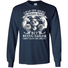Sailor Popeye T-shirts I Have The Right To Remain Silience But Being A Sailor I Didn't Have Ability Hoodies Sweatshirts