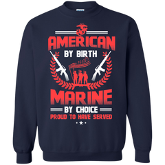 American Marine Shirts American by born Marine by choice T-shirts Hoodies Sweatshirts