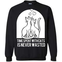 Cat Shirts Time Spent with Cats is Never Wasted T-shirts Hoodies Sweatshirts - TeeDoggie.Com