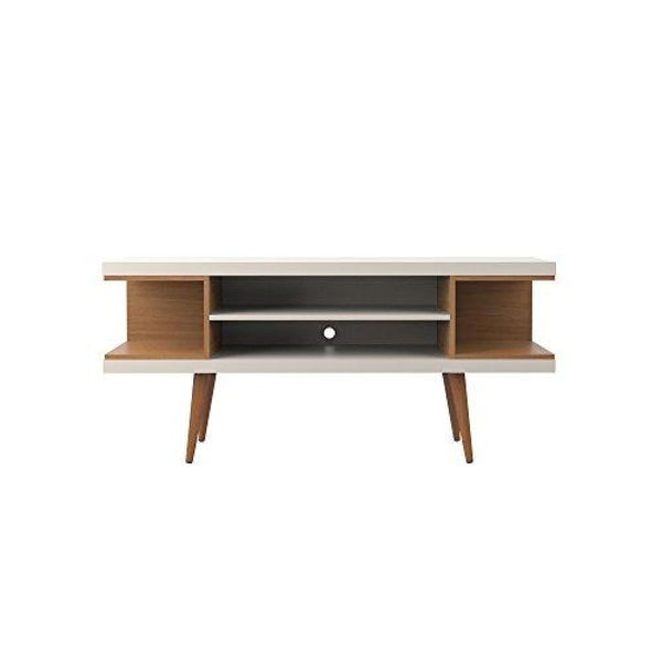 Manhattan Comfort Utopia Collection Mid Century Modern TV Stand With Open 3 Open Shelves and Two Open Cubbies - TV Stands & Entertainment